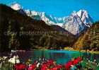 AK / Ansichtskarte Garmisch Partenkirchen Riessersee mit Zugspitzgruppe Wettersteingebirge Kat. Garmisch Partenkirchen