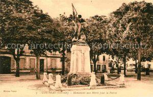 AK / Ansichtskarte Coutras Monument aux Morts pour la Patrie Kat. Coutras