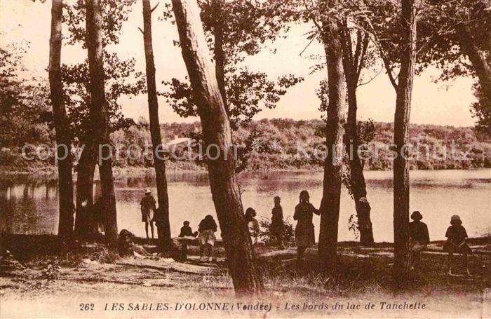 AK / Ansichtskarte Les Sables d Olonne Les bords du lac de Tanchette Kat. Les Sables d Olonne
