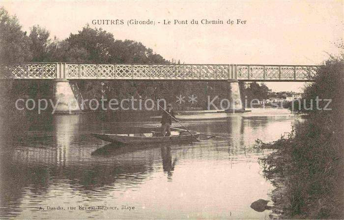 AK / Ansichtskarte Guitres Le Pont du Chemin de Fer Kat. Guitres