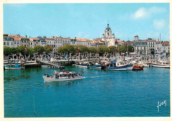 AK / Ansichtskarte La Rochelle Charente Maritime Le Vieux Port et la Tour de l Horloge Collection Couleurs et Lumiere de France Kat. La Rochelle