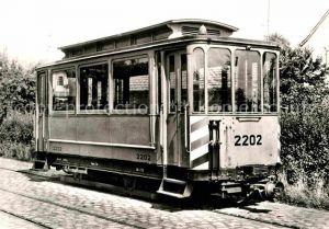 AK / Ansichtskarte Strassenbahn Gleismess Beiwagen 2202 Stuttgart Stammheim  Kat. Strassenbahn