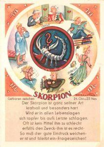 AK / Ansichtskarte Sternzeichen Skorpion Kat. Besonderheiten