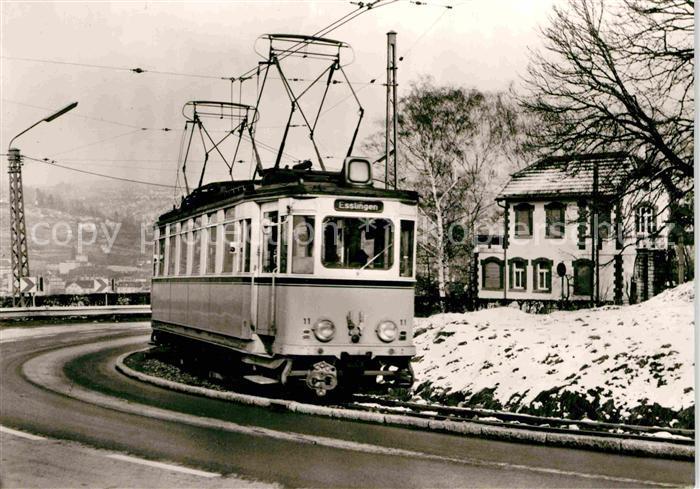 AK / Ansichtskarte Strassenbahn Triebwagen 11 Esslingen  Kat. Strassenbahn