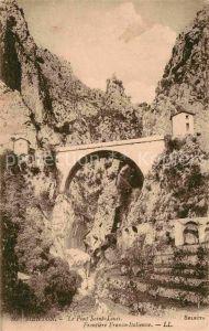 AK / Ansichtskarte Menton Alpes Maritimes Le Pont Saint Louis Frontiere Franco Italienne Kat. Menton
