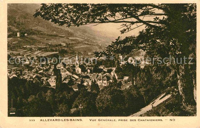 AK / Ansichtskarte Allevard les Bains Isere Vue generale Prise des Chataigniers Kat. Allevard