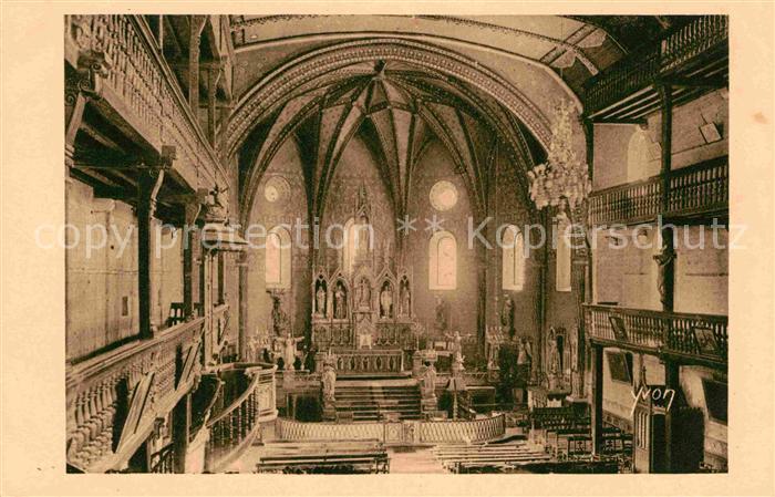 AK / Ansichtskarte Saint Jean de Luz Interieur de l Eglise d Urrugne Kat. Saint Jean de Luz