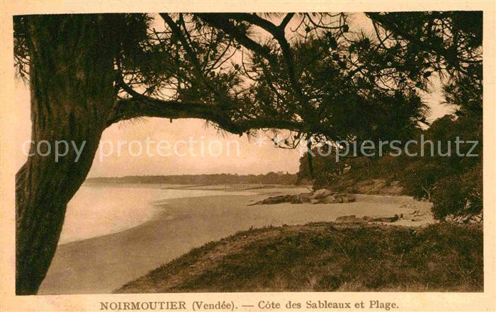 AK / Ansichtskarte Ile de Noirmoutier Cote des Sableaux et Plage Kat. Noirmoutier en l Ile