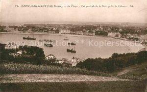 AK / Ansichtskarte Saint Jean de Luz La Plage Vue generale de la Baie prise de Ciboure Kat. Saint Jean de Luz