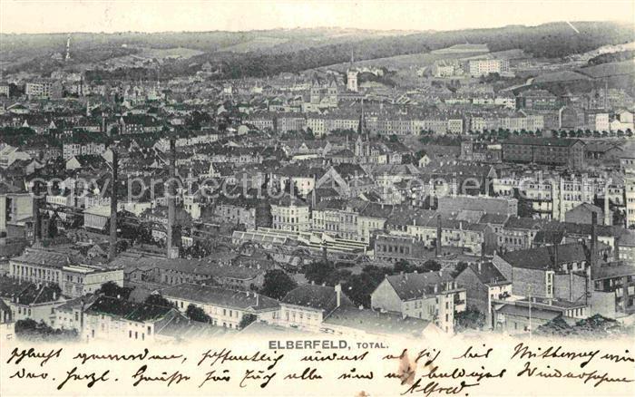 AK / Ansichtskarte Elberfeld Wuppertal Totalansicht Kat. Wuppertal