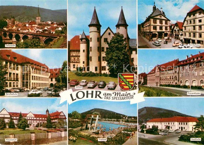 Ak ansichtskarte lohr main bruecke schloss rathaus for Heimbach lohr am main