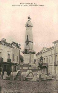AK / Ansichtskarte Montguyon Monument aux Morts de la Grande Guerre Kat. Montguyon