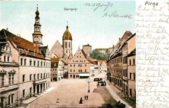 AK / Ansichtskarte Pirna Obermarkt Kat. Pirna