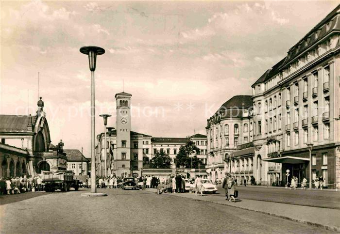 AK / Ansichtskarte Erfurt Bahnhofsplatz Kat. Erfurt
