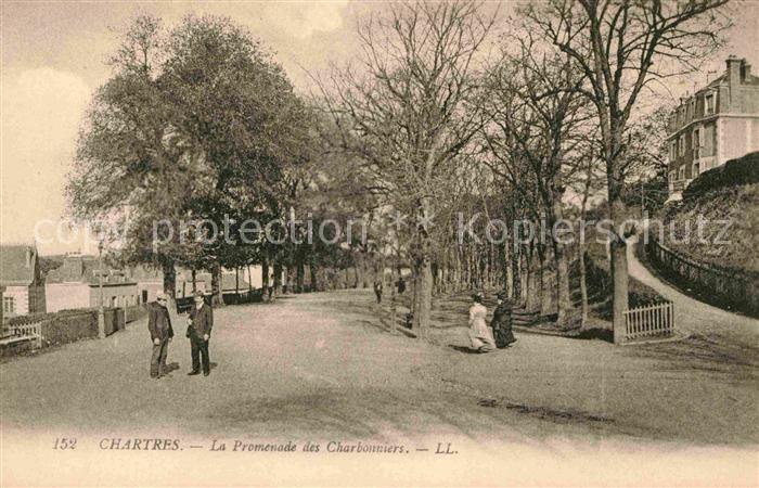 AK / Ansichtskarte Chartres Eure et Loir La Promenade des Charbonniers Kat. Chartres