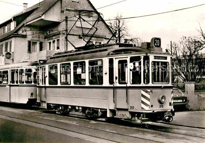 AK / Ansichtskarte Strassenbahn Triebwagen 20 Esslingen Nellingen  Kat. Strassenbahn