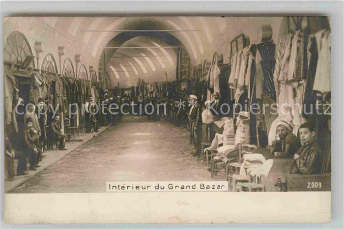 AK / Ansichtskarte Typen Arabien Interieur du Grand Bazar  Kat. Typen