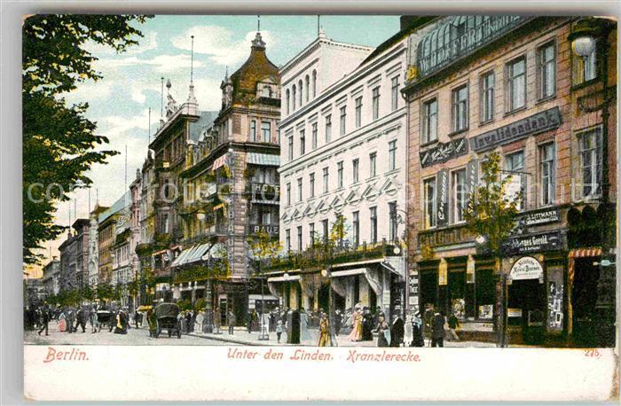 AK / Ansichtskarte Berlin Unter den Linden Kranzlerecke Kat. Berlin