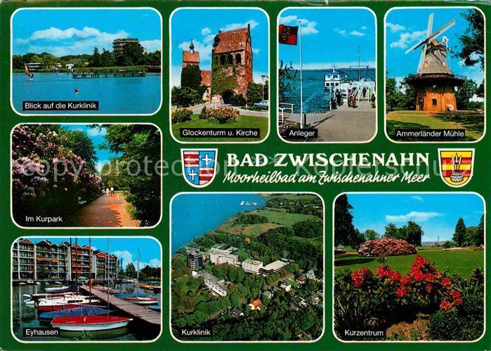 AK / Ansichtskarte Bad Zwischenahn Kurklinik Glockenturm Anleger Ammerlaender Muehle Eyhausen Kat. Bad Zwischenahn