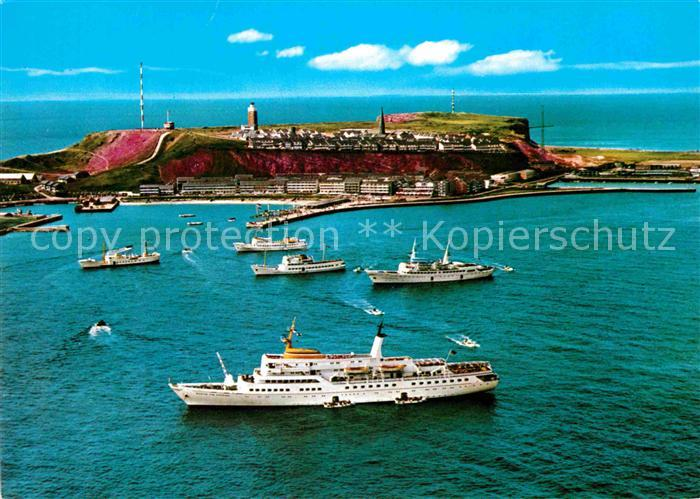 AK / Ansichtskarte Helgoland Nordseebad Insel Faehre Fliegeraufnahme Kat. Helgoland