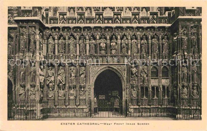 AK / Ansichtskarte Exeter Cathedral West Front Kat. Exeter