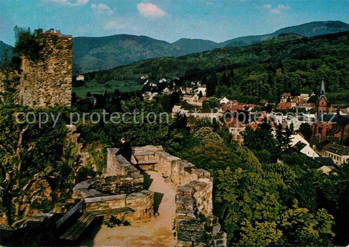 AK / Ansichtskarte Badenweiler Blick von Burgruine Kat. Badenweiler