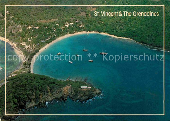 AK / Ansichtskarte Saint Vincent Grenadines Salt Whistle Bay Mayreau Grenadines aerial view Kat. Saint Vincent