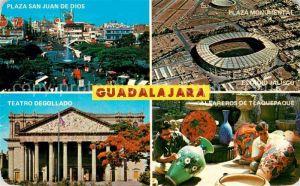 AK / Ansichtskarte Guadalajara Plaza San Juan de Dios Plaza Monumental Teatro Degollado Alfareros de Tlaquepaque Kat. Guadalajara