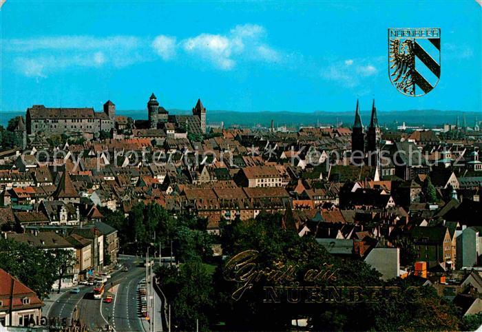 AK / Ansichtskarte Nuernberg Altstadt mit Burg und St Sebalduskirche Kat. Nuernberg
