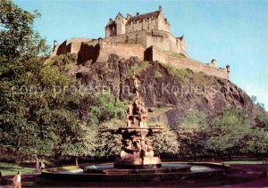 AK / Ansichtskarte Edinburgh Castle and Fountain Kat. Edinburgh