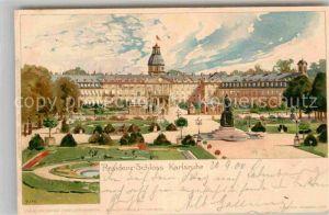 AK / Ansichtskarte Kley Karlsruhe Residenz Schloss Litho  Kat. Kuenstlerlitho
