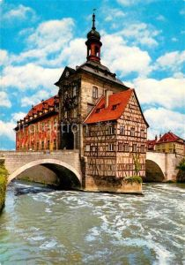 AK / Ansichtskarte Bamberg Altes Rathaus in der Regnitz Kat. Bamberg