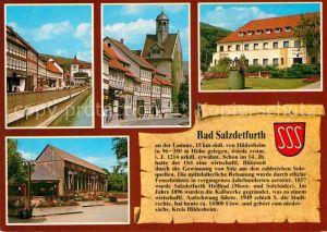 AK / Ansichtskarte Bad Salzdetfurth Marktstrasse St Georgskirche Kurmittelhaus Gradierwerk mit Musikpavillon Kat. Bad Salzdetfurth