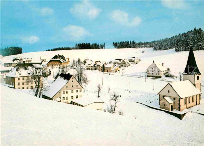 AK / Ansichtskarte Neukirch Furtwangen Gasthof Pension Zum Roessle Winterpanorama Hoehenluftkurort Wintersportplatz Schwarzwald Kat. Furtwangen im Schwarzwald