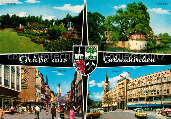 AK / Ansichtskarte Gelsenkirchen Stadtgarten Schloss Berge Bahnhofstr Neumarkt Kat. Gelsenkirchen