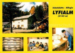 AK / Ansichtskarte Hintermartell Schutzhuette Rifugio Lyfialm Kaeserei