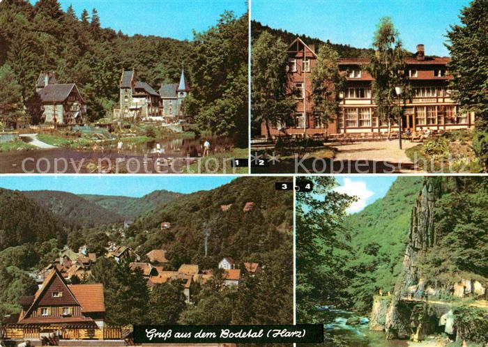 AK / Ansichtskarte Bodetal Harz Treseburg Erholungsheim Haus Wildstein Altenbrak Blick von der Waldbuehne Kat. Treseburg