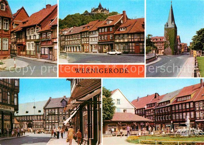 AK / Ansichtskarte Wernigerode Harz Feudalmuseum Schloss Westerntorturm Hotel Gothisches Haus Nikolaiplatz Kat. Wernigerode