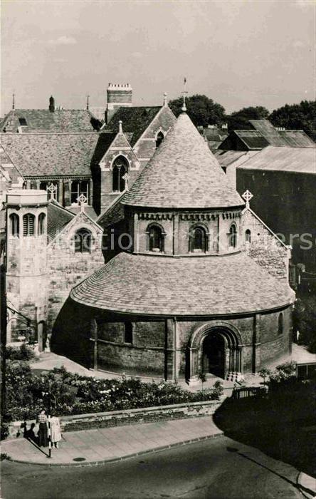 Cambridge Cambridgeshire Round Church Holy Sepulcure Church Tucks Post Card