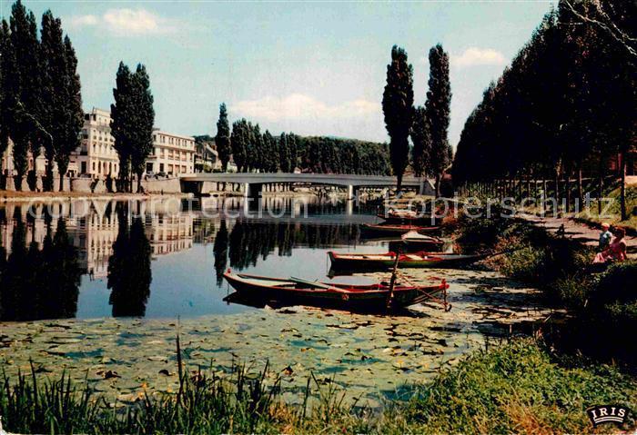 AK / Ansichtskarte Melun Seine et Marne Les berges de l Ile la Seine et le Pont Jeanne d Arc Kat. Melun
