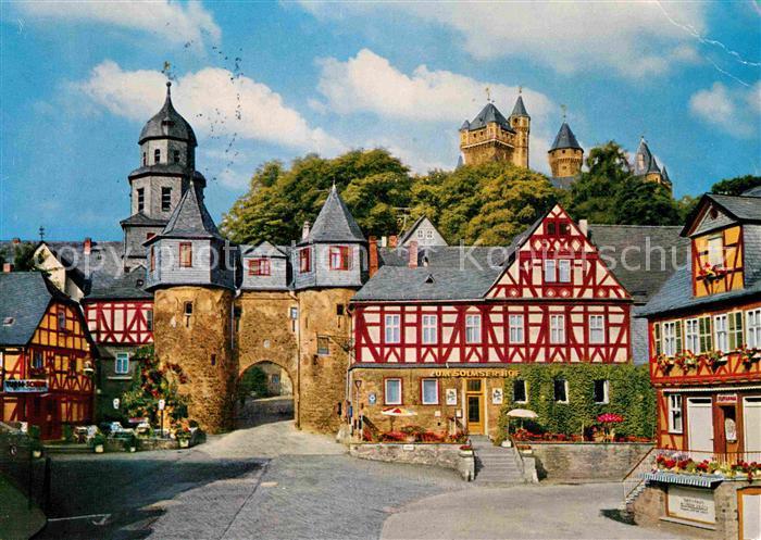 AK / Ansichtskarte Braunfels Fachwerkhaeuser Stadttor Burg Kat. Braunfels