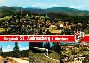 AK / Ansichtskarte St Andreasberg Harz Rehberger Graben Sommerrodelbahn Sessellift Kat. Sankt Andreasberg