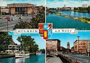 AK / Ansichtskarte Muelheim Ruhr Stadthalle Schlossbruecke City Wasserbahnhof Kat. Muelheim an der Ruhr