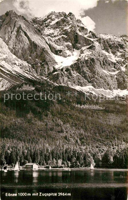 AK / Ansichtskarte Eibsee mit Zugspitze Kat. Grainau