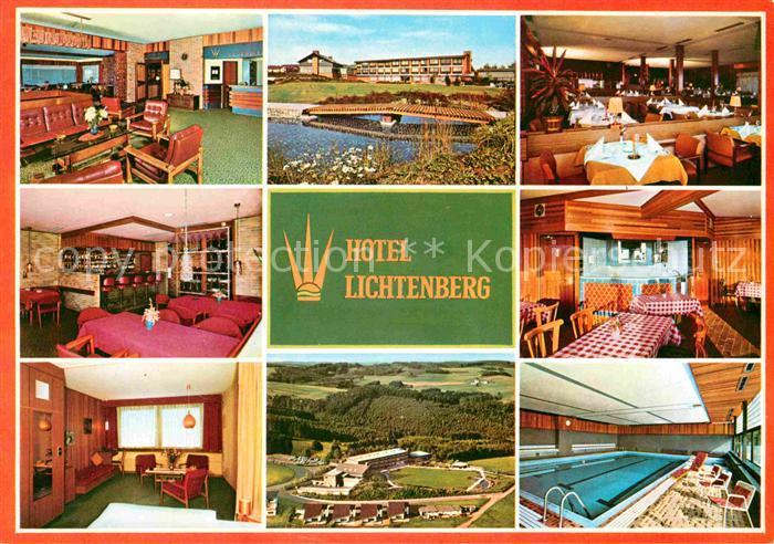 ak ansichtskarte lichtenberg morsbach sieg hotel lichtenberg restaurant park hallenbad. Black Bedroom Furniture Sets. Home Design Ideas