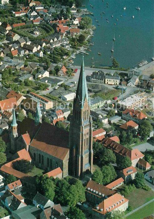 AK / Ansichtskarte Schleswig Holstein St Petri Dom zu Schleswig Fliegeraufnahme Kat. Schleswig