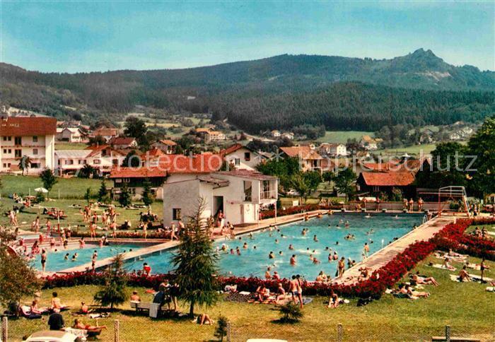 Ak Ansichtskarte Bodenmais Schwimmbad Mit Silberberg Kat