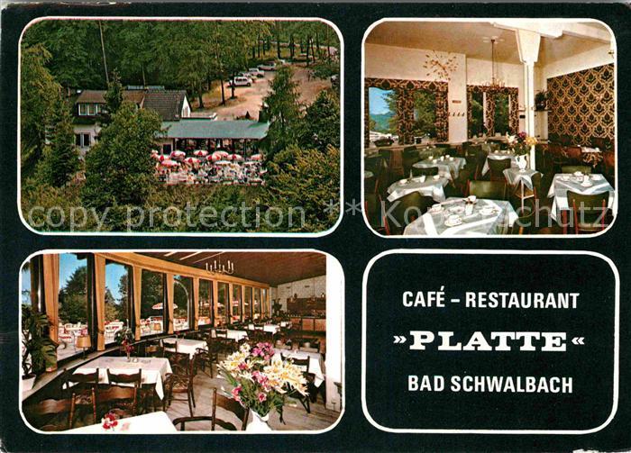 AK / Ansichtskarte Bad Schwalbach Cafe Restaurant Platte Kat. Bad Schwalbach