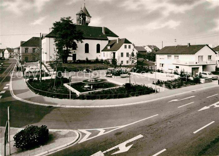 AK / Ansichtskarte Eppelheim Evangelische Kirche Pfarrhaus Kat. Eppelheim