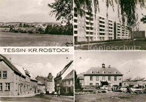 AK / Ansichtskarte Tessin Rostock Rosengarten Kirchenstrasse Rathaus Stadtansicht Kat. Tessin Rostock